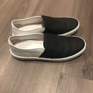 CHANEL Two Tone Slip on Sneaker